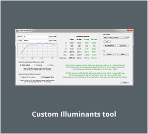 Custom Illuminants tool